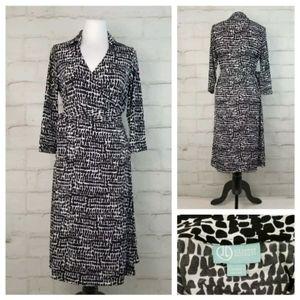 Liz Lange Maternity Wrap Dress 3/4 Sleeve Stretchy